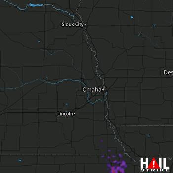Hail Map Holton, KS 08-01-2019