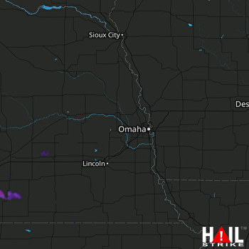 Hail Map Blue Hill, NE 08-15-2019