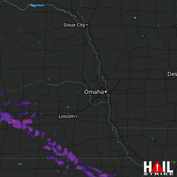 Hail Map Holton, KS 08-26-2019