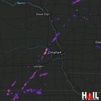 Hail Map Council Bluffs, IA 09-22-2019