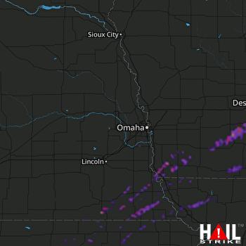 Hail Map Des Moines, IA 10-01-2019
