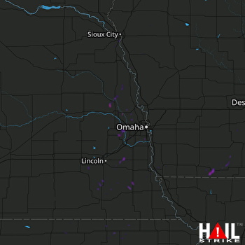 Hail Map Bedford, IA 10-05-2019