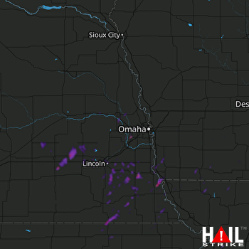 Hail Map Gretna, NE 10-10-2019