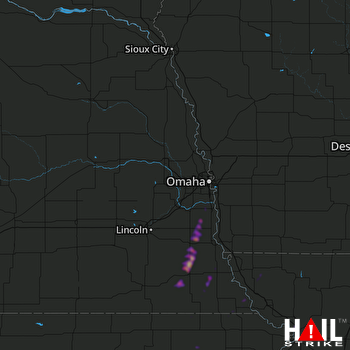 Hail Map Syracuse, NE 10-21-2019