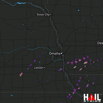 Hail Map La Vista, NE 03-19-2020