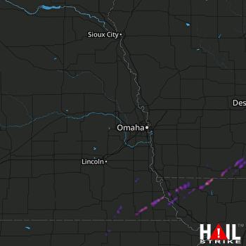 Hail Map Tarkio, MO 03-28-2020