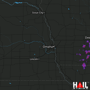 Hail Map Creston, IA 06-03-2020