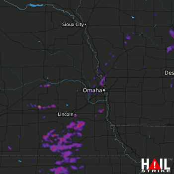 Hail Map Lincoln, NE 06-18-2020