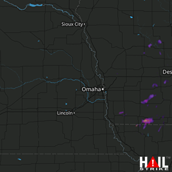 Hail Map Bedford, IA 06-22-2020