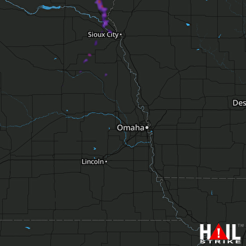 Hail Map Wayne, NE 07-03-2020