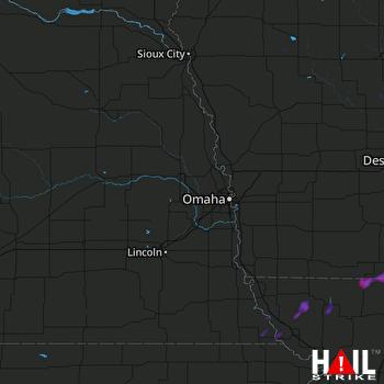 Hail Map Leon, IA 07-19-2020
