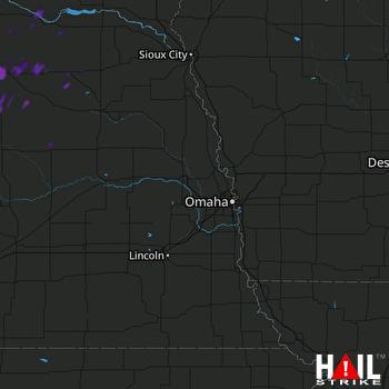 Hail Map OMAHA 07-25-2020