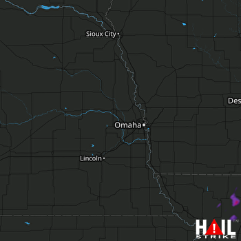 Hail Map Albany, MO 08-08-2020