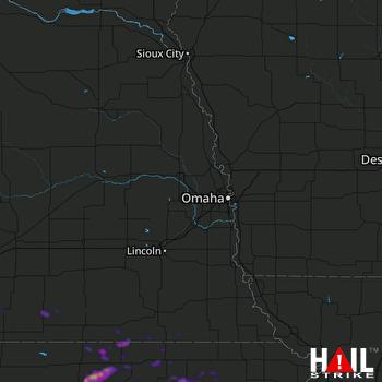 Hail Map Concordia, KS 05-27-2021