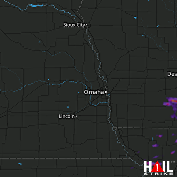 Hail Map Creston, IA 06-21-2021