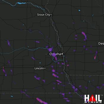Hail Map Plattsmouth, NE 07-10-2021