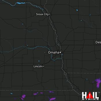 Hail Map Belleville, KS 07-25-2021