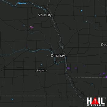 Hail Map Lamoni, IA 08-12-2021