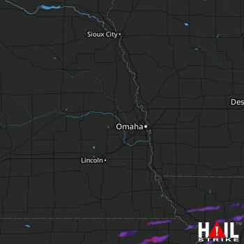 Hail Map Onaga, KS 08-12-2021