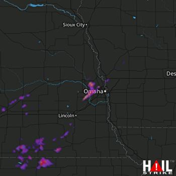 Hail Map Bennington, NE 08-28-2021