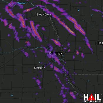 Hail Map Sioux City, IA 08-31-2021