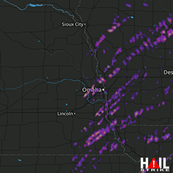 Hail Map Council Bluffs, IA 03-06-2017