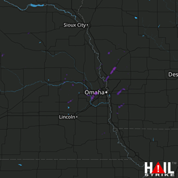 Hail Map Elkhorn, NE 04-19-2017