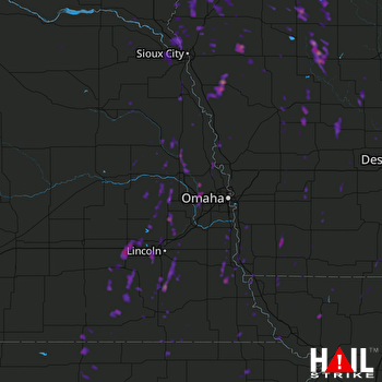 Hail Map Orange City, IA 05-17-2017
