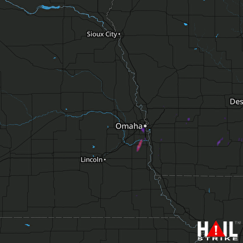 Hail Map Omaha, NE 06-02-2017