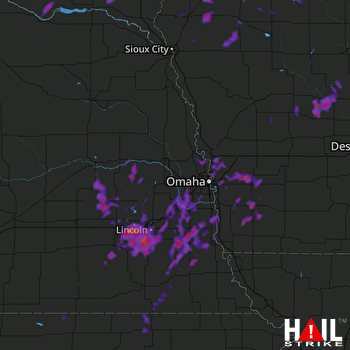 Hail Map Lincoln, NE 06-12-2017