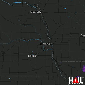 Hail Map OMAHA 06-15-2017