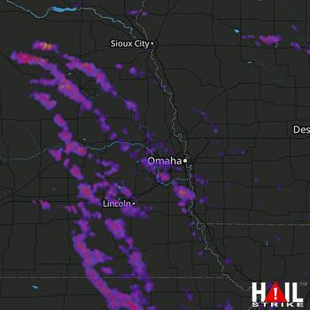 Hail Map Lincoln, NE 06-17-2017