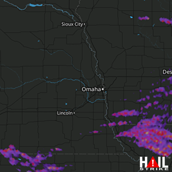 Hail Map Fort Dodge, IA 06-29-2017