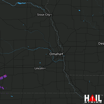 Hail Map Hastings, NE 07-03-2017