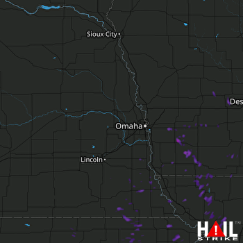 Hail Map Emerson, IA 07-19-2017