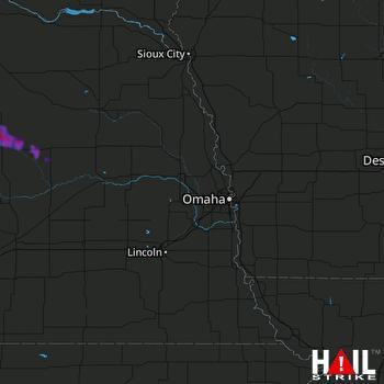 Hail Map Ord, NE 07-22-2017
