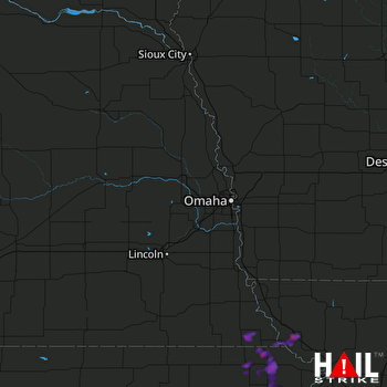Hail Map Hiawatha, KS 08-14-2017