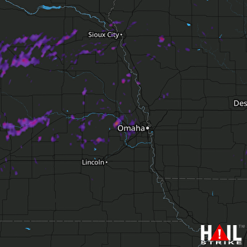 Hail Map Columbus, NE 08-15-2017