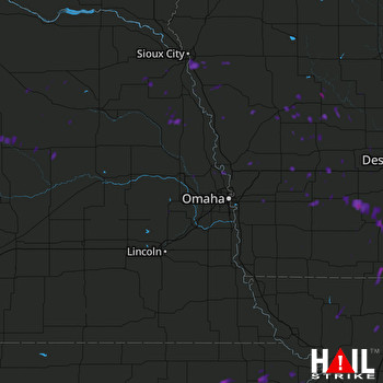 Hail Map Nortonville, KS 08-22-2017