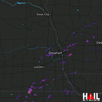 Hail Map Concordia, KS 09-17-2017