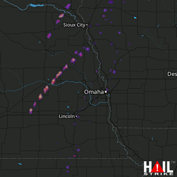 Hail Map Columbus, NE 09-24-2017