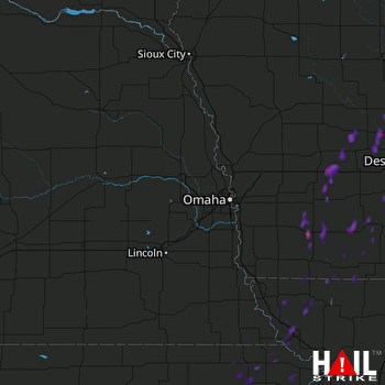 Hail Map Villisca, IA 09-25-2017