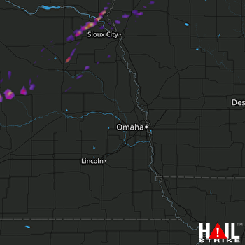 Hail Map Spalding, NE 10-06-2017
