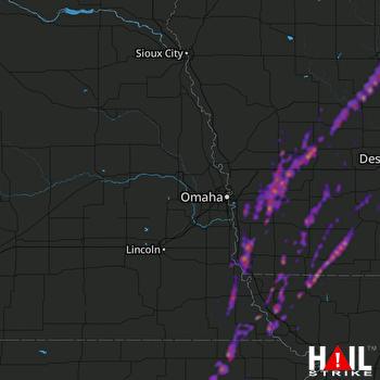 Hail Map Harlan, IA 04-14-2018