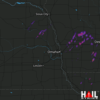 Hail Map Creston, IA 05-01-2018