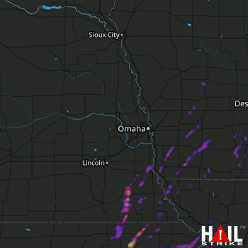 Hail Map West Des Moines, IA 05-04-2018