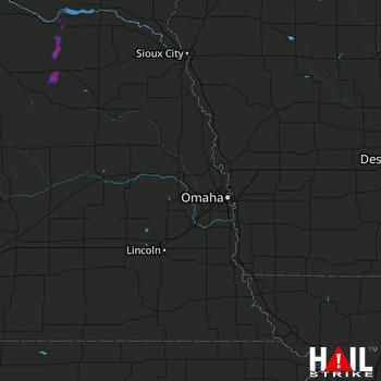 Hail Map Creighton, NE 05-23-2018