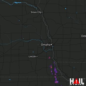 Hail Map Auburn, NE 05-29-2018
