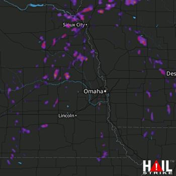 Hail Map Norfolk, NE 06-25-2018