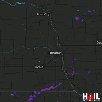 Hail Map Perry, IA 07-13-2018